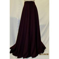Burgundy Half Circle Skirt~Ankle Length Half Circle Maxi Skirt~Maroon... (64 AUD) ❤ liked on Polyvore featuring skirts, dark olive, women's clothing, long purple skirt, long burgundy skirt, elastic waist long skirts, long circle skirt and long flared skirt