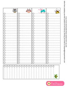 Classic Happy Planner Sidebar To do checklist with Hearts