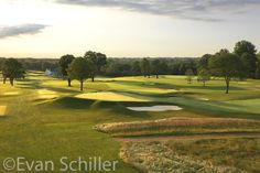 View of the & holes over the green of the Wissahickon Course at the Philadelphia Cricket Club Cricket, Pennsylvania, Philadelphia, Golf Courses, Amp, Club, Amazing, Green, Inspiration