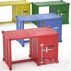 Sea Container desk (4 colors)