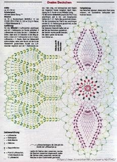 Crochet Knitting Handicraft: oval doily
