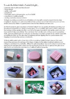 diy miniature Turkish Delight (Dollhouse Desserts(