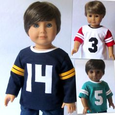 American Girl Boy Doll Clothes Custom Numbered by Minipparel American Boy Doll, American Doll Clothes, Vetements Shoes, Girl Dolls, Ag Dolls, Barbie Doll, 18 Inch Boy Doll, Boy Doll Clothes, Our Generation Dolls