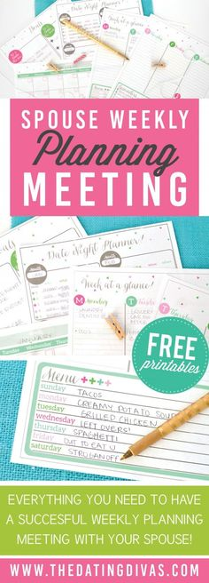 Planner Printables and Calendars A weekly planning meeting spouse kit that will get you and your spouse on the same schedule in no time! A weekly planning meeting spouse kit that will get you and your spouse on the same schedule in no time! Dating Divas, Marriage Tips, Love And Marriage, Marriage Night, Marriage Challenge, Healthy Marriage, Strong Marriage, Successful Marriage, Healthy Relationships