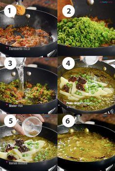 Matar ka Nimona - Green Peas Curry - My Tasty Curry Pea Recipes, Curry Recipes, Veggie Recipes, Vegetarian Recipes, Cooking Recipes, Healthy Recipes, North Indian Recipes, Indian Food Recipes, Ethnic Recipes