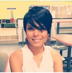 Cute pixie Bangs need to stay LONG!!