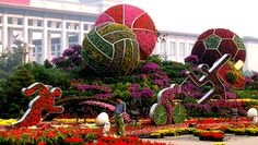 Olympic gardens topiaries.