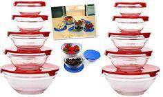 10'lu ( 20 parça ) Cam Saklama Kabı | www.yakalagidiyor.com  Sağlıklı cam ürünler evinizde..
