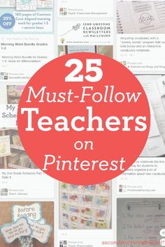 Looking for some inspiration? 25 Must-Follow Teachers on Pinterest