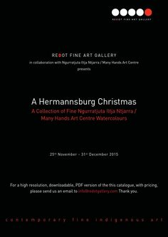 """A Hermannsburg Christmas  ReDot Fine Art Gallery is extremely honoured to be hosting our first ever show by the community art centre of Ngurratjuta Iltja Ntjarra, better known as Many Hands Arts, which has become famous for its production of sublime watercolours of the Australian outback in the style known as the """"Hermannsburg School"""".  This continues the tradition of the great Arrernte artist, and possibly the most famous 20th century Australian watercolourist, Albert Namatjira.    In a…"""