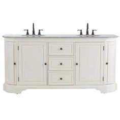 Home Decorators Collection, Davenport 73 in. Vanity in Distressed White with Granite Vanity Top in Grey and Undermount Sink, 1975400410 at The Home Depot - Mobile