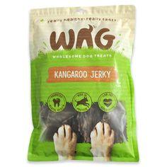 WAG Kangaroo Jerky, Grain Free Hypoallergenic Natural Australian Made Dog Treat Chew, Healthy Long Lasting Alternative