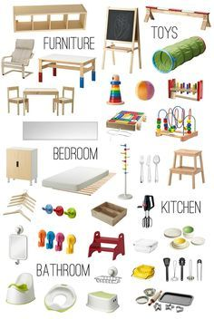 IKEA for kids, many are quite Montessori-like                                                                                                                                                                                 More