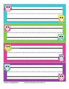 FREE Bright Polka Dot Desk Tags | Back to School | Pinterest ...