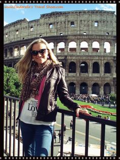 Me in front of the Colosseum in Rome, Italy