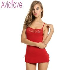 a616810c86d Avidlove Women Lace Nightgown Cotton Nightdress Stretch Bodycon Mini Dress  Sleepwear Sexy Lingerie Plus Size Nightwear