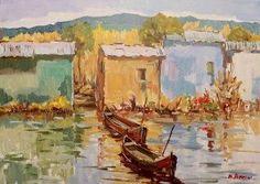 10 Marcello Bertini Casotti sul lago olio su tela 2010