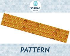 Loom Bead Pattern: Honeycomb Bracelet / Cuff by ScarabJewels