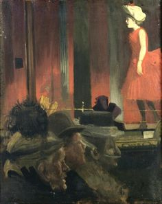 Sickert, Walter (English, 1862-1940) - The Music Hall - 1889. hat