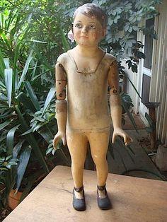 vintage antique wood mannequin
