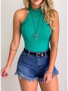 Crop Top Outfits, Short Outfits, Summer Outfits, Casual Outfits, Kinds Of Clothes, Clothes For Women, Pretty Outfits, Cute Outfits, Look Fashion