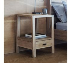 Nordic inspired design and a truly solid and contemporary style, this piece is crafted with beautifully mellow solid Oak with white hues to add a sense of calm and serenity. The stunning Kielder Bedside Table has defined lines, a contemporary and fresh design and boasts a hand crafted brass handle to the drawer at the base of the unit that highlights the beautiful, practical and unique look.