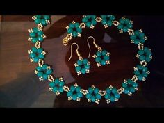 A set of jewelry: necklace and earrings. Комплект украшений. МК - YouTube