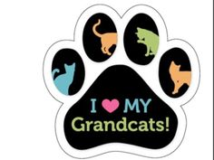 Paw shape car magnet. I love my grandcats
