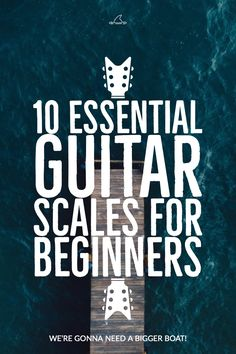 Guitar Scales for beginners. 10 Essential scales for beginning guitarists. Includes free PDF mini-book lesson in TAB and standard notation. Learn Acoustic Guitar, Learn Guitar Chords, Learn To Play Guitar, Learn Guitar Scales, Piano Scales, Ukulele Chords, Music Theory Guitar, Guitar Songs, Guitar Tabs