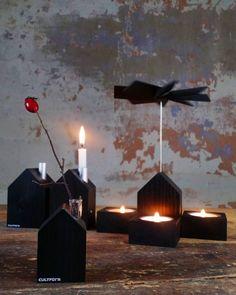 Moderne Weihnachtsdeko In Schwarz ( Und Vielen Anderen Farben) Von  Cultform. Räucherhaus, Kerzenhaus