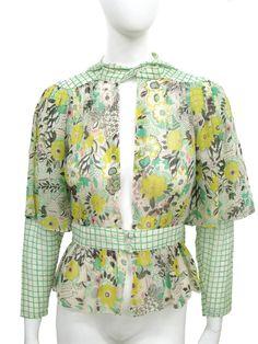 Celia Birtwell print Ossie Clark floral blouse