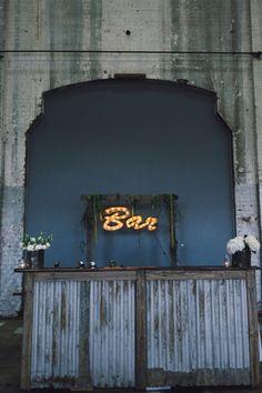 Mat & Alicia / Chic Warehouse Wedding - Sydney  / The Lane. Photographer Courtney Illfield. #wedding Hire #YourEventSolution