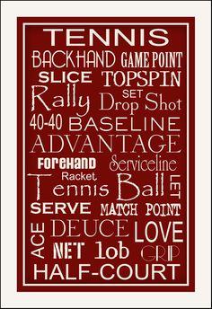Subway+Art+Sign+Tennis+Typography+Art+Print+11x17+by+PaperBleu,+$21.00