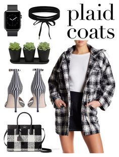 """""""Untitled #76"""" by picturesarelimitless on Polyvore featuring Kate Spade, Six Crisp Days, Zimmermann, Boohoo, plaid and plaidcoats"""