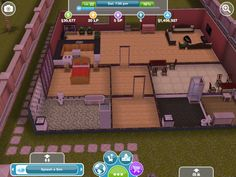 My other sims freeplay Sims Free Play, Sims House, Baseball Field, House Plans, Gaming, How To Plan, Home Layouts, Ideas, Videogames