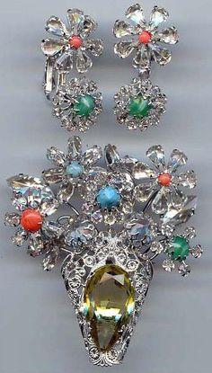 rhinestone flower basket pin - Google Search
