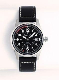 公式航空時計としてその精度の高さを証明してきたハミルトン。/KHAKI FIELD AUTO ¥74,000-(税別)(HAMILTON)/マイスターウォッチ サカモト竪町店 TEL:076-225-7493/TATEMACHI SPRING COLLECTION 2014