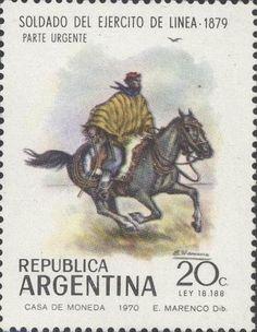 Stamp: Military uniforms (Argentina) Mi:AR 1069,Göt:AR 1519