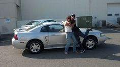 Congrats to Mr. Baldwin (with his mom) on getting his first car - a 1999 Ford Mustang sports car!