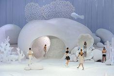 Chanel runway 2012 by Zaha Hadid
