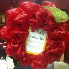 Teacher/apple wreath