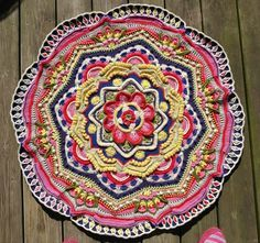 Mandala Madness! Free CAL @ Crystals and Crochet. This is the mandala in week 10 - 8 more weeks to go!