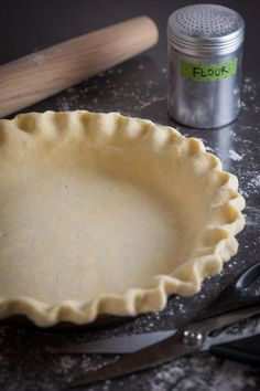 How to make a buttery, flaky sourdough pie crust - especially good for apple pies and lemon pies! This sourdough crust can be used for both sweet pies and savory pies like quiches and tarts. It's very versatile and easy to make using a food processor, but can also be made by hand. | pinchmysalt.com