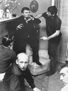 Roman Polanski & Patrick Wymark on the set of Repulsion