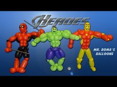 Advanced Super Hero Balloon Animal Tutorial (Balloon Twisting and Modeling #19) - YouTube