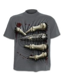 T-shirt gris dark wear homme SPIRAL 'death grip' tr382622