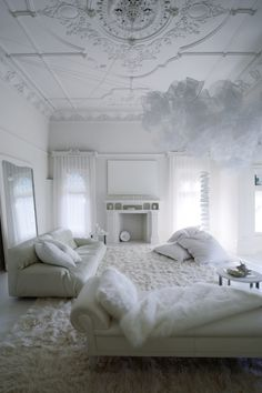 All White Living Room Decor . 35 Beautiful All White Living Room Decor . Decorating All White Rooms Ideas & Inspiration All White Room, Living Room White, Beautiful Living Rooms, White Rooms, My Living Room, Living Room Decor, Living Spaces, French Living Rooms, White Walls