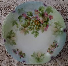 Vintage Porcelain Plate With Grapes_Purple by GoldenBeeAntiques, $24.00