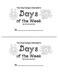 The Hungry Caterpillar Days of the week sequencing
