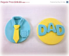 12 Fathers Day Cookies / Cupcakes Fondant Toppers